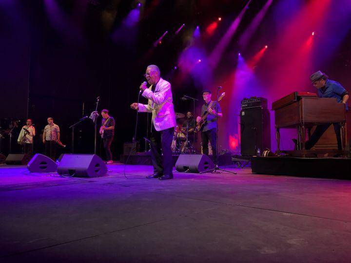 Don Bryant, avec son groupe les Bo-Keys, sur la scène de Fourvière (Lyon) le 6 juillet (Jean-François Convert)
