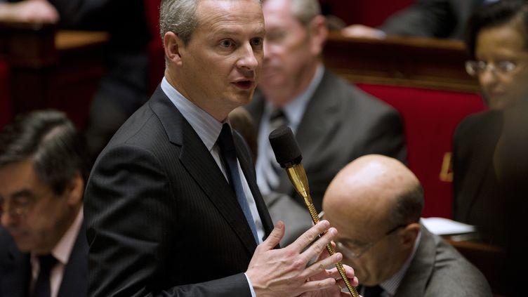Bruno Le Maire, ministre de l'Agriculture, le 15 novembre 2011 à l'Assemblée nationale, à Paris. (FRED DUFOUR / AFP)