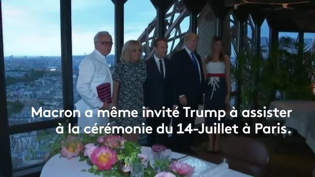 Macron et Trump la bromance