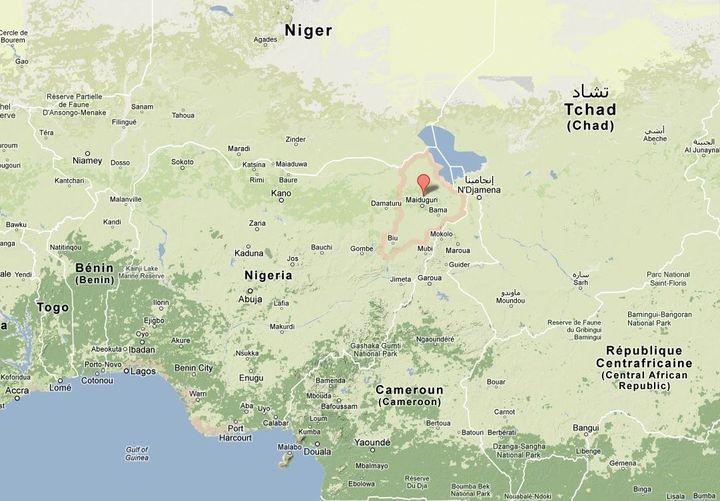 L'Etat de Borno, au Nigeria. (GOOGLE MAPS)