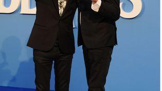 Ringo Starr (à gauche) et Paul McCartney, le 15 septembre 2016 à Londres (Royaume-Uni). (TSAA / ZDS / WENN.COM / SIPA / SIPA USA)