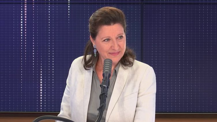 """Agnès Buzyn, candidate La République en marche à la mairie de Paris, invitée du """"8h30 franceinfo""""; mardi 23 juin 2020. (FRANCEINFO / RADIOFRANCE)"""