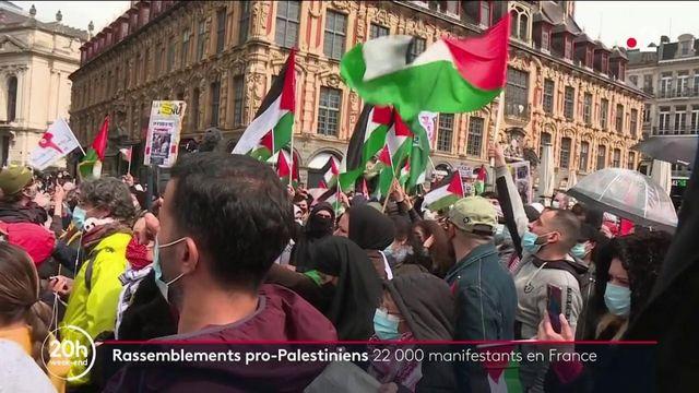 Conflit israélo-palestinien : journée de manifestation dans l'Hexagone, en soutien aux Palestiniens