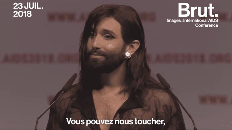 VIDEO. Atteinte du VIH, Conchita Wurst dénonce la stigmatisation de sa maladie (BRUT)