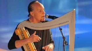 Alan Stivell et sa harpe celtique  (AFP Photo Pierre Verdy)