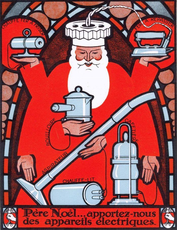 Extrait de l'affiche de l'exposition Noël Electrique à Mulhouse (Musée  Electropolis)