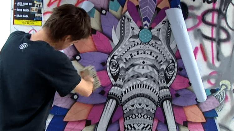 Le street artiste rémois Céz Art exposera du 7 au 9 octobre à la première foire d'art contemporain de Rouen  (Culturebox / Capture d'écran)