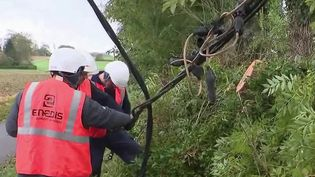 Tempête Aurore : 7 000 foyers toujours privés d'électricité en Normandie. (FRANCE 2)