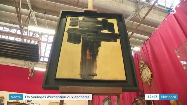 Arts : un tableau de Pierre Soulages aux enchères