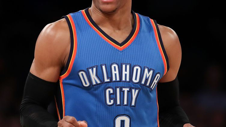 Russell Westbrook, le meneur exceptionnel du Thunder. (MICHAEL REAVES / GETTY IMAGES NORTH AMERICA)