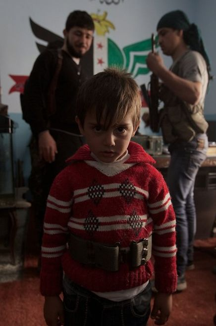 Portrait du petit-fils du chef de la katiba Shuhada'd Al Thawrd (William Roguelon)