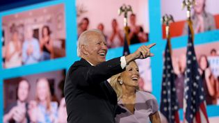 Le candidat Joe Biden à la convention démocrate à Wilminton (Delaware), le 20 août 2020. (WIN MCNAMEE / GETTY IMAGES NORTH AMERICA)