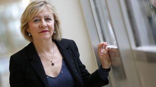 Frédérique Rolet, secrétaire générale du Snes-Fsu, le 3 avril 2014. (SOLLIER CYRIL / MAXPPP MAXPPP)