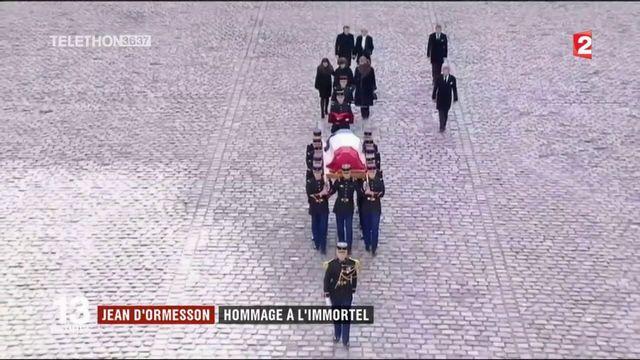Jean d'Ormesson a reçu un hommage national