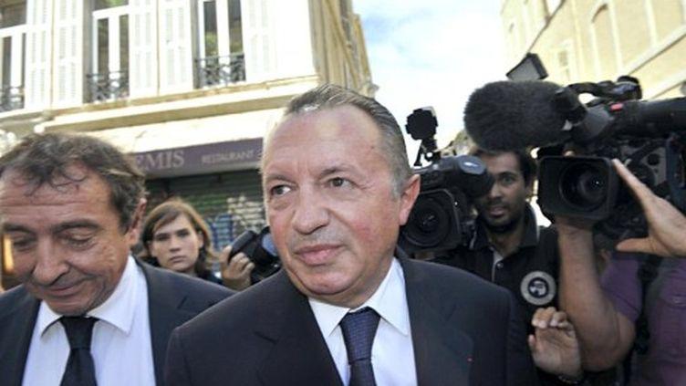 Jean-Noël Guérini à son arrivée au palais de justice de Marseille (AFP)