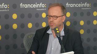 Christophe Deloire, Secrétaire général de RSF, invité de l'info médias jeudi 4 juillet. (FRANCEINFO / RADIOFRANCE)