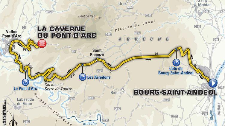 (13e étape, vendredi 15 juillet : Bourg-Saint-Andéol – La Caverne du Pont-d'Arc © ASO)