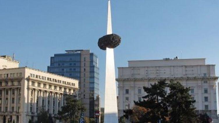 Monument de la renaissance à Bucarest. (AFP)