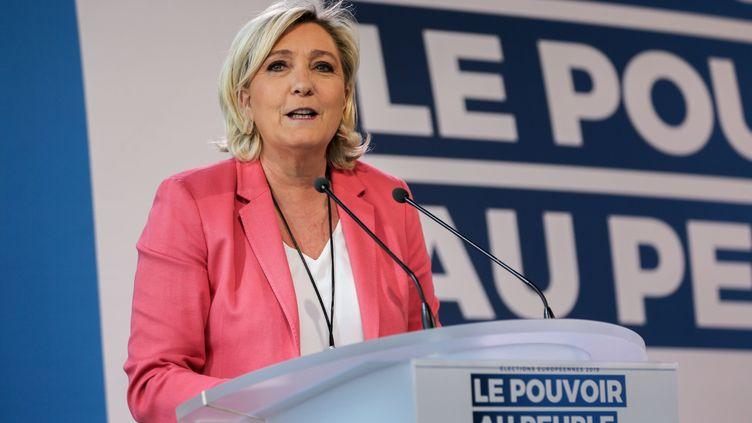 Marine Le Pen à Paris, le 31 mars 2019. (MICHEL STOUPAK / NURPHOTO)