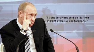 Conférence de presse annuelle du Président russe Vladimir Poutine - 14 février 2008 (ALEXANDER NEMENOV / AFP)