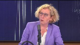 """Muriel Pénicaud,ministre du Travail, était l'invitée du """"8h30 franceinfo"""",lundi 8 juin 2020. (FRANCEINFO / RADIOFRANCE)"""