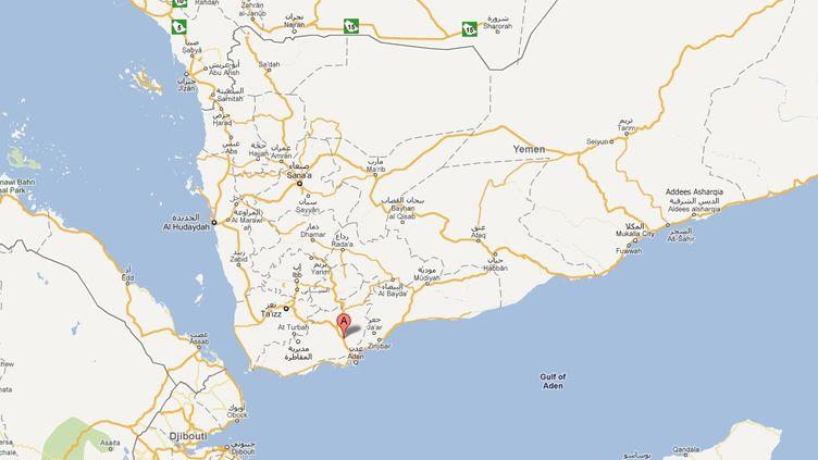 La province de Lahj au Yémen où ont été enlevés une employée française de la Croix-Rouge, son chauffeur et son interprète, le 22 novembre 2011. (DR)