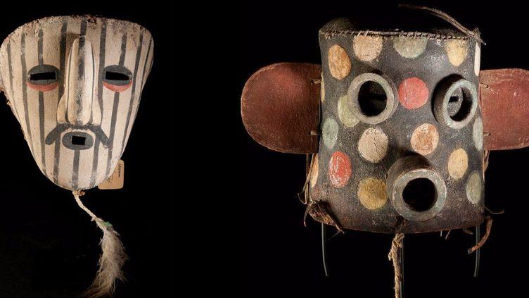 Masques Hopi, vente aux enchères à Drouot, 10 juin 2015  (Drouot)