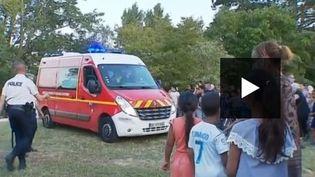 Les pompiers n'ont pas pu sauver les enfants noyés dans un lac à Châlon-sur-Saône. (FRANCE 3)