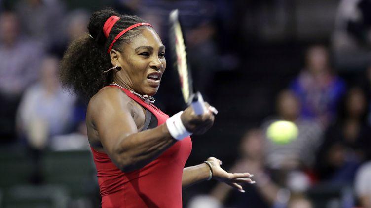 L'Américaine Serena Williams, le 8 février 2020, à Everett (Washington).  (ELAINE THOMPSON/AP/SIPA / SIPA)
