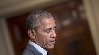 Barack Obama, alors président des Etats-Unis, à Washington, le 15 juillet 2016. (BRENDAN SMIALOWSKI / AFP)