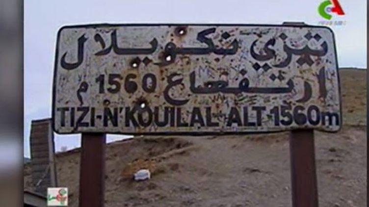 Capture d'écran montrant les lieux de recherches des terroristesassassins d'Hervé Gourdel en Kabylie, en octobre 2014. (RTA - TELEVISION ALGERIENNE)