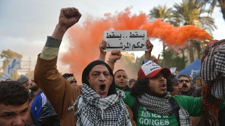 Des manifestants au Caire, le 1er février 2013. (KHALED DESOUKI / AFP)