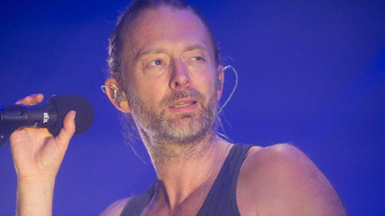 Thom Yorke sur scène en juillet 2013.  (Justin NG / MaxPPP)