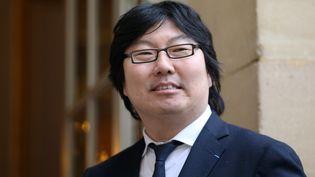 Le sénateur écologiste Jean-Vincent Place arrivait le 29 janvier 2014 à l'hôtel Matignon à Paris (KENZO TRIBOUILLARD / AFP)