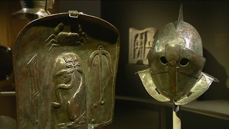 Gladiator. Bas les casques ! Antikenmuseum - Bâle (CAPTURE D'ÉCRAN FRANCE 3)