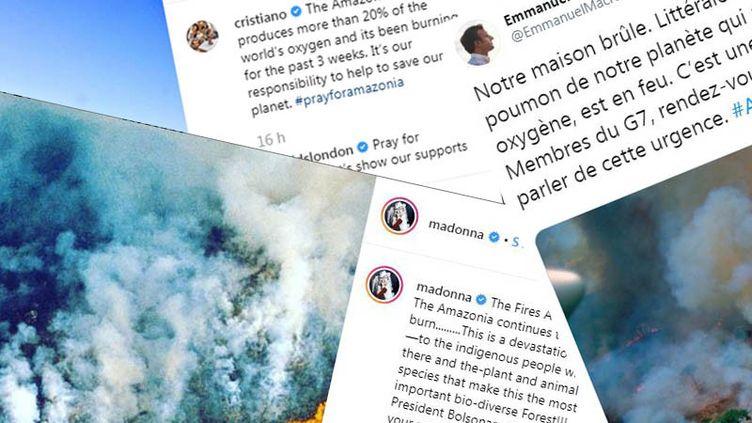 Des personnalités ont posté sur les réseaux sociaux des photos qui ne montrent en réalité par les incendies actuels en Amazonie brésilienne. (NOEMIE BONNIN / RADIO FRANCE)