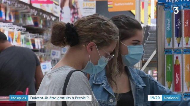 Rentrée scolaire : les masques doivent-ils être gratuits à l'école ?