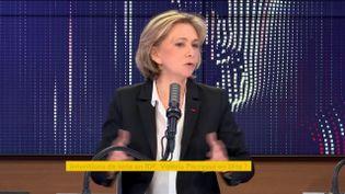 Valérie Pécresse, le 12 avril, à franceinfo. (FRANCEINFO / RADIOFRANCE)