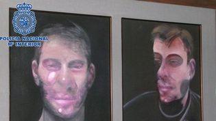 Le ministère de l'Intérieur espagnol a dévoilé jeudi 20 juillet 2017 cette photo d'une des trois toiles retrouvées du peintre britannique Francis Bacon.  (HO / SPANISH INTERIOR MINISTRY / AFP)