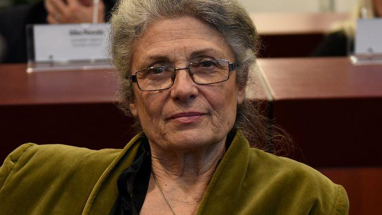 Catherine Blein au conseil régional de Bretagne en 2015. (Nicolas Créach / PHOTOPQR/LE TELEGRAMME/MAXPPP)