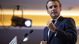 Le président Emmanuel Macron à Paris, le 29 octobre 2019. (IAN LANGSDON / POOL / AFP)
