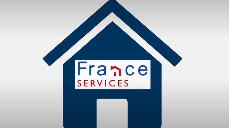 """Le logo des maisons """"France Services"""". (FRANCE 3)"""