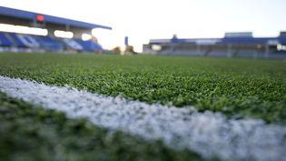 Un terrain de football, en Norvège. (YORICK JANSENS / BELGA MAG / AFP)