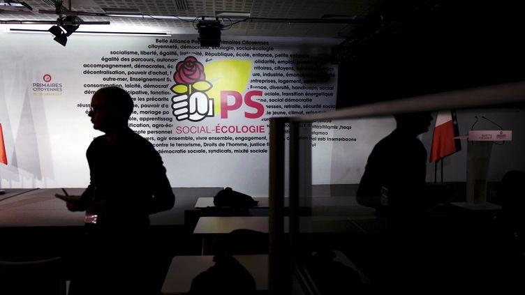 Au siège du Parti socialiste, le 29 janvier 2017. (DENIS ALLARD / REA)