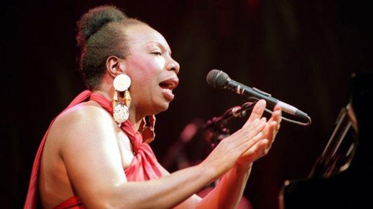 Nina Simone à l'Olympia le 22 octobre 1991  (BERTRAND GUAY / AFP )