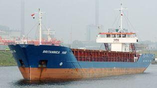 Le cargo Britannica Hav, battant pavillon maltais, est entré en collision avec un chalutier au large du Cotentin, mardi 20 mars 2018. (FRANCE 3 NORMANDIE)