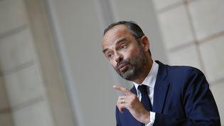 Edouard Philippe lors d'une conférence de presse à l'Elysée, à Paris, le 30 mai 2018. (AFP)