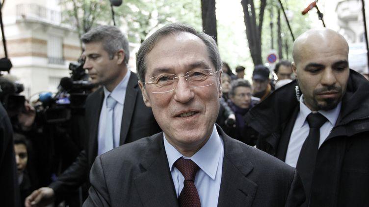 Claude Guéant, alors ministre de l'Intérieur, le 23 avril 2012, à Paris. (KENZO TRIBOUILLARD / AFP)