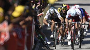 Peter Sagan (Bora-Hansgrohe), lors de la 4e étape du Tour de France, le 4 juillet 2017, à Vittel. (JEFF PACHOUD / AFP)