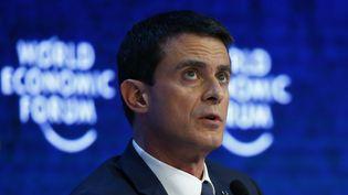 Manuel Valls assiste à la réunion annuelle du Forum économique mondial deDavos (Suisse), le 21 Janvier 2016 (RUBEN SPRICH / REUTERS)